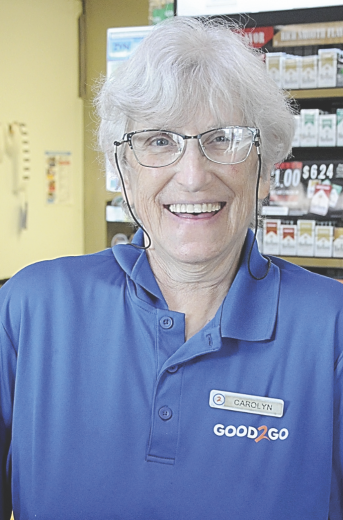 David Peck photo     Carolyn Cox has been the friendly face greeting customers at SaveWay, Red Eagle and Good2Go for 35 years now.